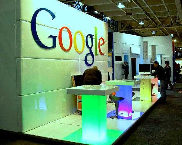Google stand at an expo