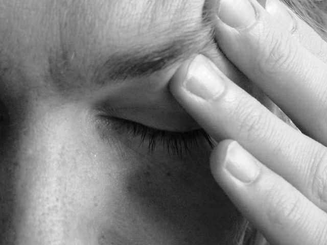 having a migraine