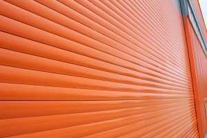 Orange Garage Door