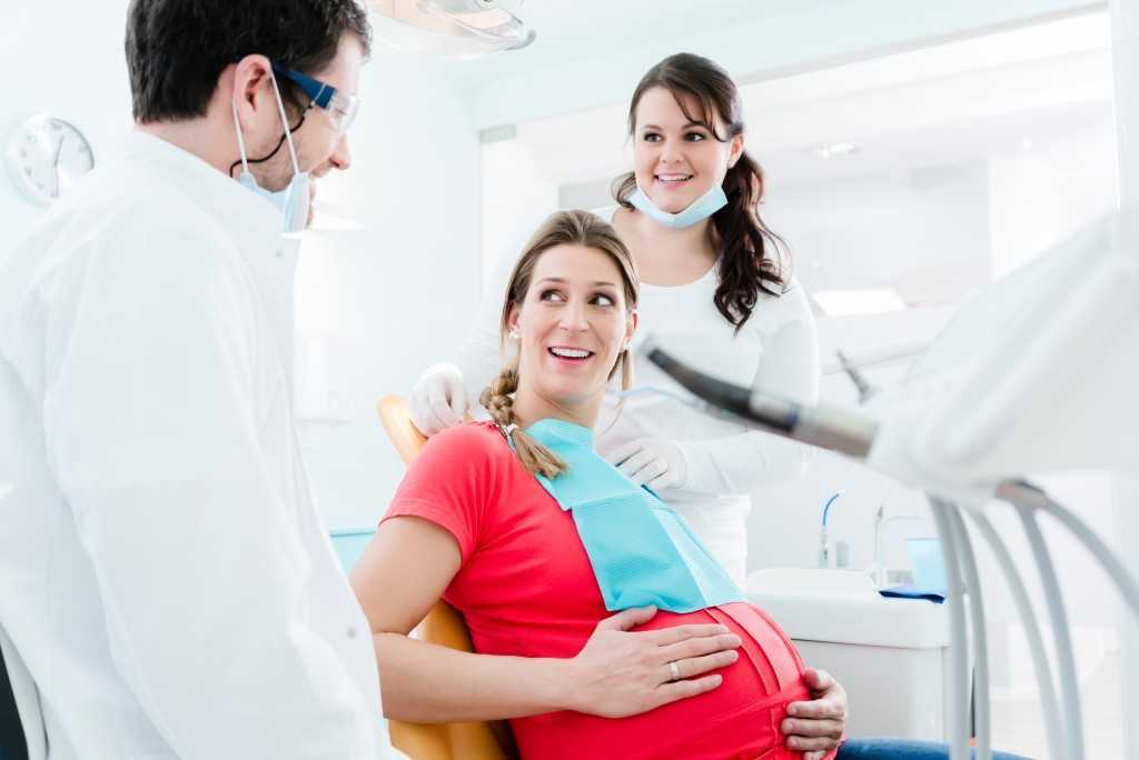 Pregnant Woman in Dental Clinic