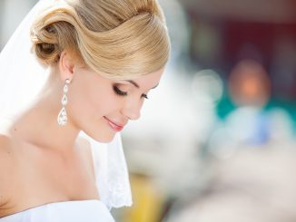 Beautiful bride on an outdoor wedding