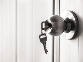 Key stuck in a door handle