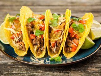 A platter of Mexican tacos
