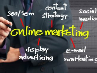 Photo about Online Marketing