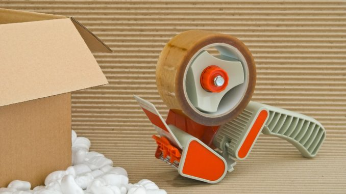 Tape gun and packaging materials for fragile materials