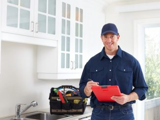 Smiling home inspector