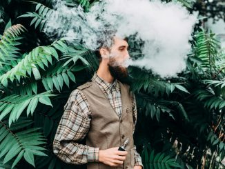 a man using an electronic cigarette