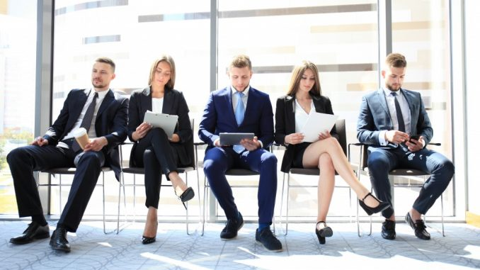 Applicants waiting for the job interview