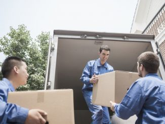 Movers unloading the truck
