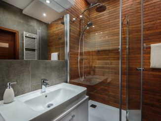 modern bathroom and sink