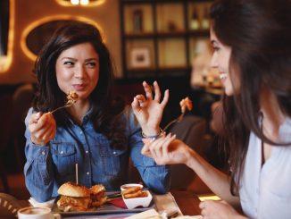 Women dining in a restaurant