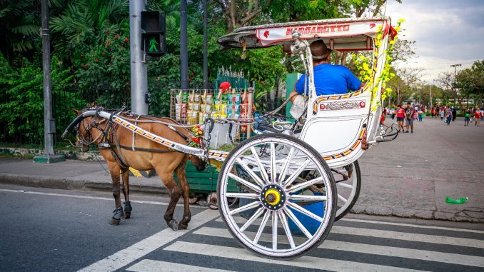 Horse-drawn vehicle in Manila