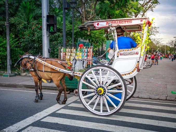 Horse-drawn vehicle in Manila