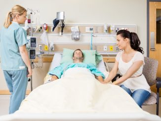 patient resting in hospital