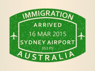 Immigration stamp Australia