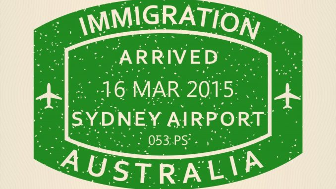 Immigration stamp Australia