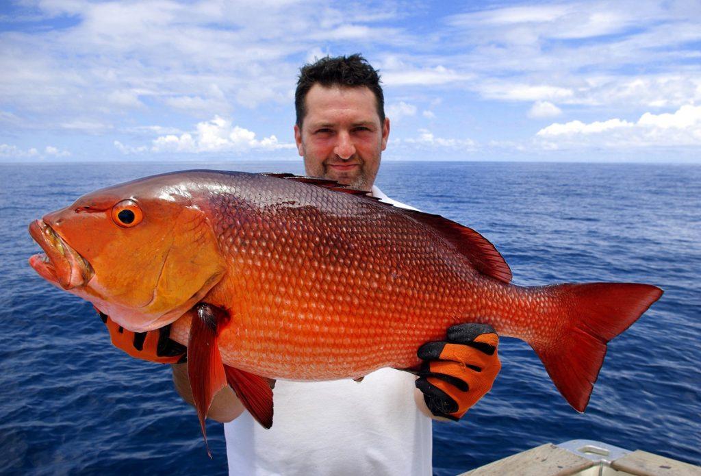 Man catching a big fish