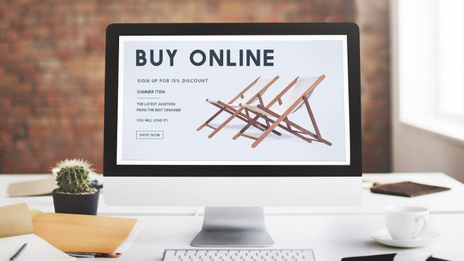 computer's screen showing an ecommerce site
