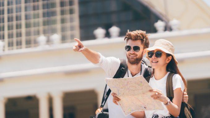 Tourists exploring the city