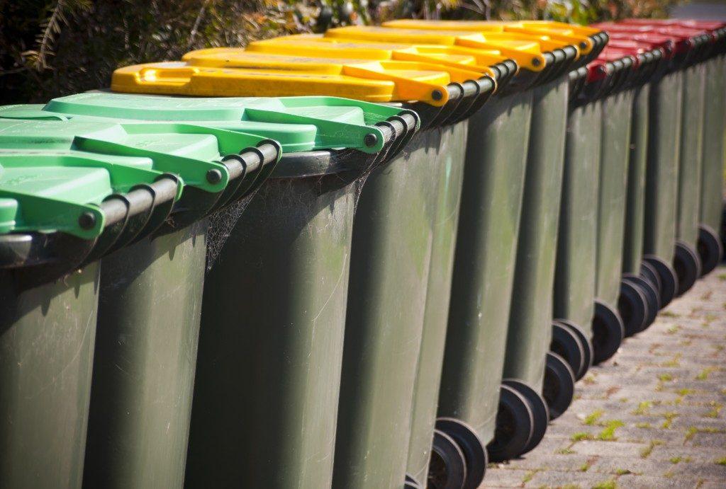 Garbage segregation bins