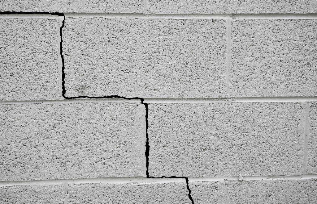 bricked wall cracking