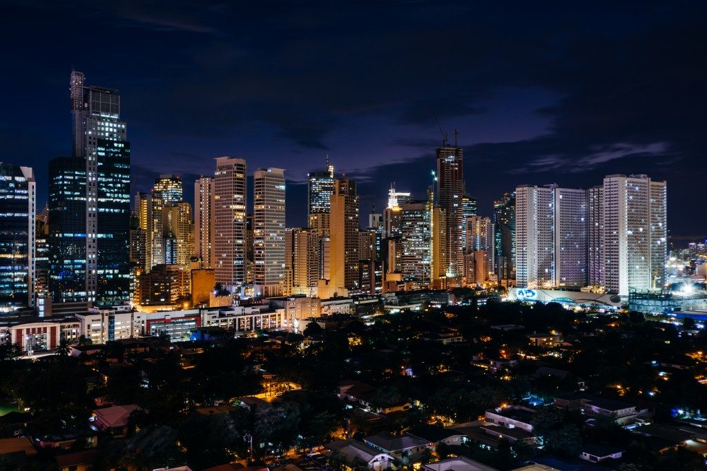 View of the skyline in Metro Manila