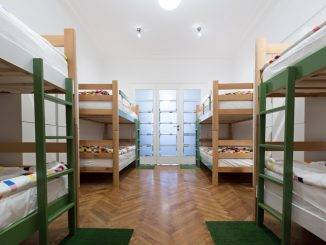 beds in a hostel