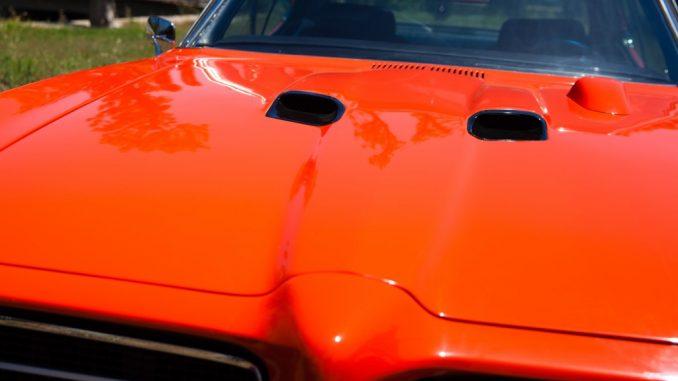 orange sports car