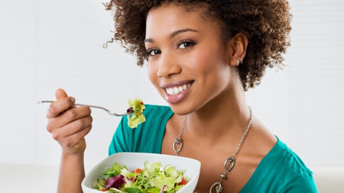 person eating healthy food