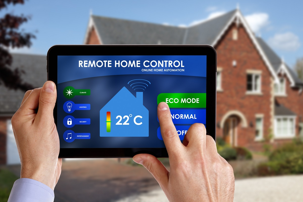 remote control with tablet