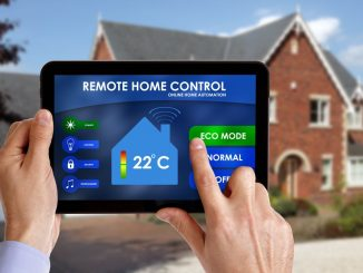 controlling house with tablet